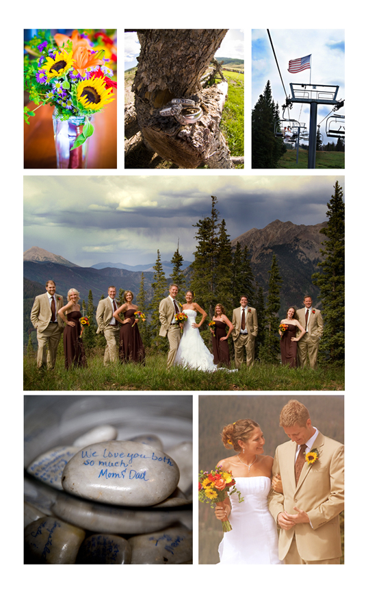 Brown and yellow wedding at Copper Mountan