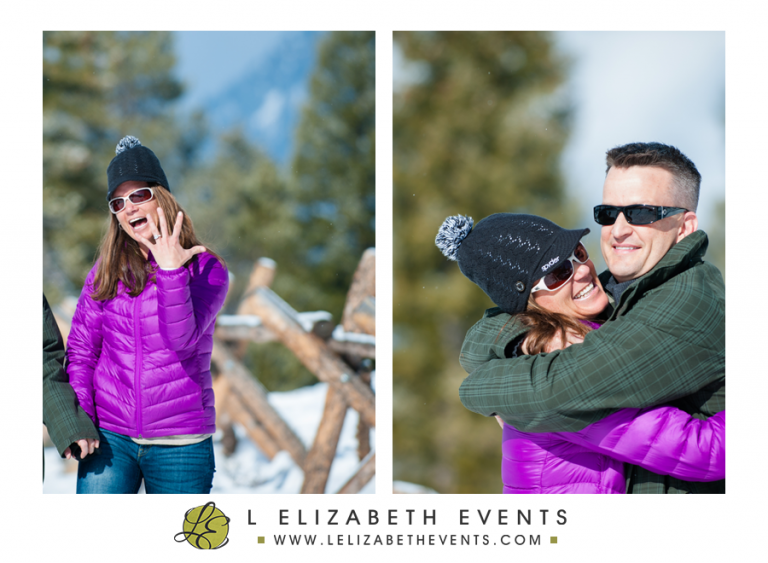 she said yes, colorado proposal photographer, mountain winter resort, breckenridge, bride to be, surprise proposal